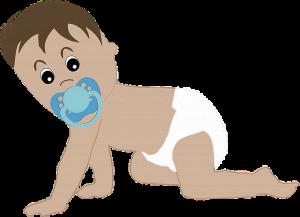 ハイハイをする赤ちゃんの絵