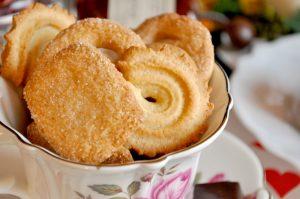 テーブルに飾られたクッキー