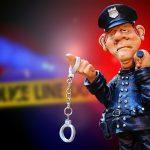 手錠を持った警察官