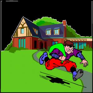 家から盗みを働く泥棒