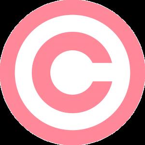 ピンクの著作権マーク