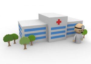 病院と医者の絵