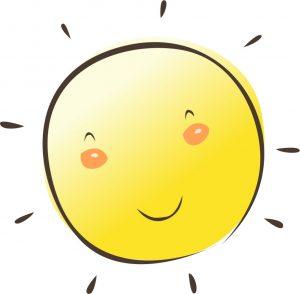 笑顔の太陽の絵