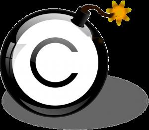 危ない著作権の絵