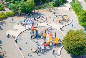俯瞰で撮った公園